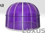 Luxus kylpytynnyri tai ulkoporeallas lasikupolia 4950mm